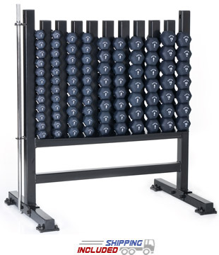 Hampton Neoprene Dumbbell Club Pack with Rack