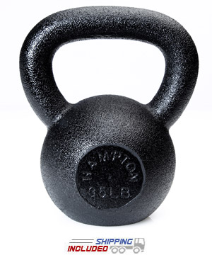 30-50 lb Black Hampton Kettle Bell 24mm Handle (HKB-5)