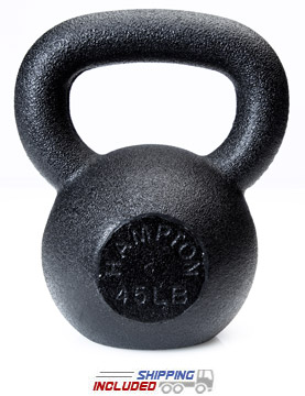 5-50 lb Black Hampton Kettle Bell 24mm Handle (HKB-5)