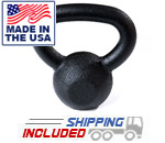 5-25 lb Black Hampton Urethane Coated Kettle Bell Set