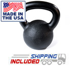30-50 lb Black Hampton Urethane Coated Kettle Bell Set