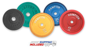 Slim-Line Rubber Coated Bumper Plates