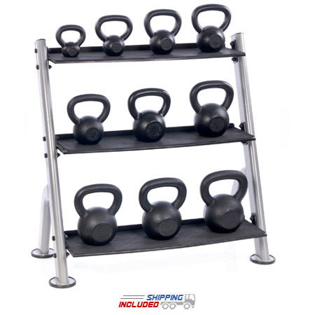 Hampton KB-3T 3-Tier Horizontal Kettlebell Rack