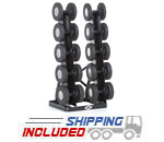 Hampton V-TT-5 Vertical Twin Tower 5 Pair Dumbbell Rack