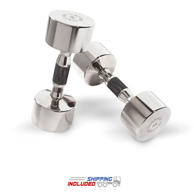 hampton chrome beauty grip dumbbells