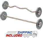 Hampton FB-G Pro-Style Barbell Sets with Dura-Lock End Cap System
