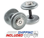 Hampton FDG Pro-Style Dumbbell Sets with Dura-Lock End Cap System
