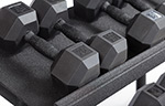 Outdoor Urethane Dura-Bell Hex Dumbbells 5-125 lbs.