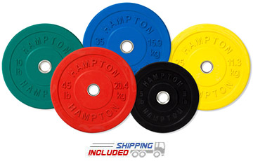 Hampton Slim-Line Rubber Coated Bumper Plates