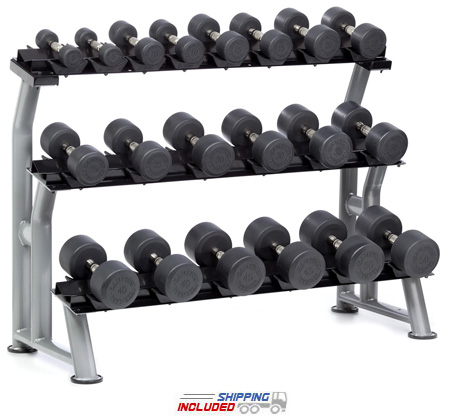 Hampton 3T-SDL-10 10 Pair 3-Level Saddle Dumbbell Rack