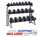 10 Pair 3-Tier Saddle Dumbbell Rack