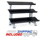 Hampton 3T-FLT 3-Tiered Dura-Bell Rack with Steel Trays