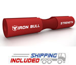 Iron Bull Strength SP Ergonomic Foam Rubber Barbell Pad in Red