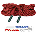 "1.5"" Fitness Training Rope - Red"