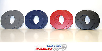 : Ironcompany Color-Coded Solid Steel Fractional Olympic Plates