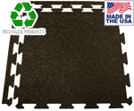 Light-Duty Interlocking Rubber Tile