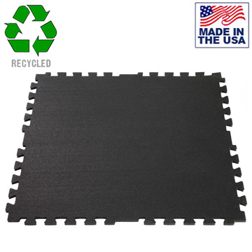Iron-Lock Interlocking Rubber Puzzle Mats For Commercial Gyms