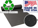 Natural 8mm Recycled Rolled Rubber for Weight Rooms and Cardio Decks