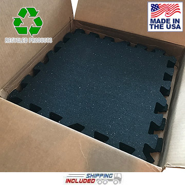 Iron-Lock Rubber Garage Gym Flooring Kit