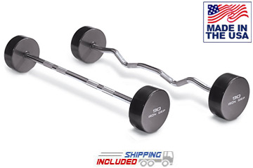 USA Made Iron Grip Solid Steel Barbell Sets with Hard Chrome Bars