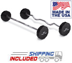 American Made Iron Grip Urethane Barbell Sets with 12-Sided Steel Heads