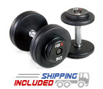 IGX Fixed Weight Rubber Dumbbells