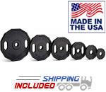 USA Made Iron Grip Urethane Barbell Plates for Club and Military Use