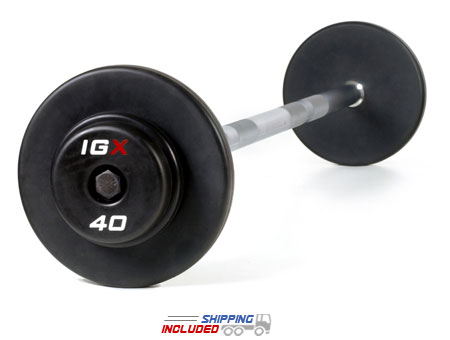 IGX Rubber Encased Pro-Style Barbell Sets