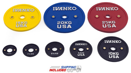 Ivanko CBPP Calibrated Powerlifting Plates