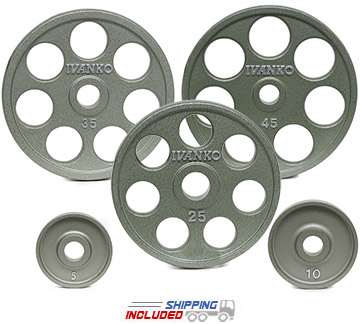 Ivanko OMEZH E-Z Lift Olympic Plate Sets