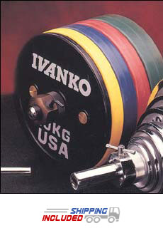 Ivanko IWF Approved Bumper Plate Sets