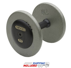 Ivanko Gray Fixed Weight Non-Machined Dumbbells