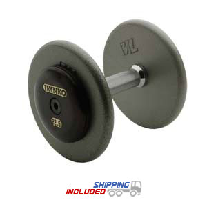 Ivanko Fixed Machined Hammertone Grey Plate dumbbells