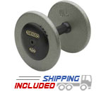Ivanko Fixed Machined Plates cast iron dumbbells