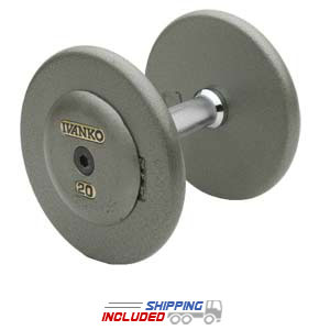 Ivanko Fixed non Machined Hammertone Grey Plate dumbbells