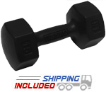 Ivanko Rubber Encased Aerobic Hex Dumbells