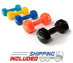 Ivanko IVD Hex Vinyl Dumbbell Set for Home or Commercial Gym