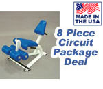 KidzPower 8-Piece Hydraulic Resistance Training Circuit for Kids
