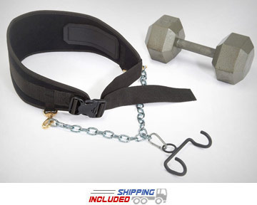 E-Z Dip Dumbbell Dipping Belt with Dumbbell Hook