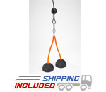 "LPG Muscle Tri-Bells 4"" Double Hi-Tech Tricep Rope"