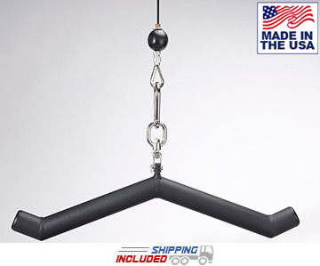 "LPG Muscle Hog Legs ""Ham Bone"" Triceps Push-Down Cable Attachment"