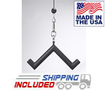 LPG Muscle Pork Chop Tricep Bar Cable Attachment