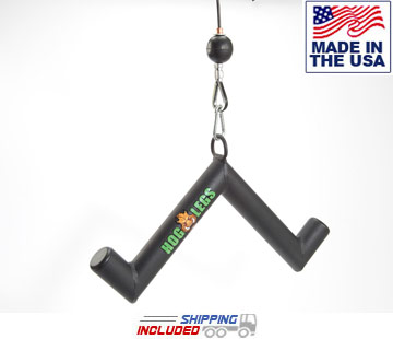 "Hog Legs ""Pork Chop"" 1 ¾"" FAT 90 Degree Long Head Triceps Bar"
