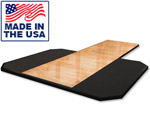 American Built AB-A691P 8' x 6' Hardwood Insert Squat Rack Weightlifting Platform