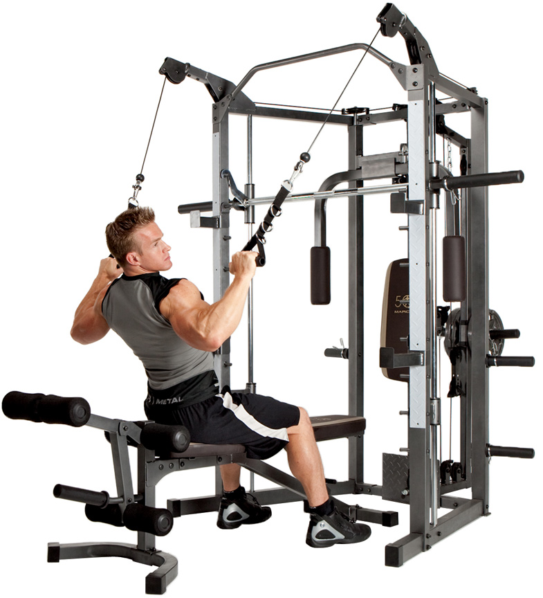 Smith Machine Cage & Cable Crossover Combo -- Marcy (SM4008)