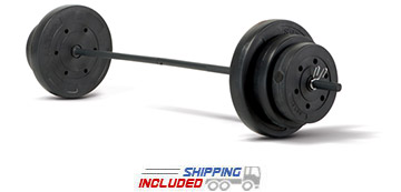 Marcy 100 lb. Vinyl Barbell Set for Home Gyms