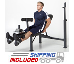 Basic Olympic Bench Press w/Leg Developer