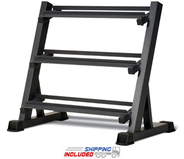 Impex by Marcy DBR-86 3-Tier Dumbbell Rack with Powder Coat Finish
