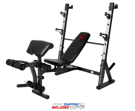 Marcy MD-867 Olympic Bench Press w/Walk-In Squat