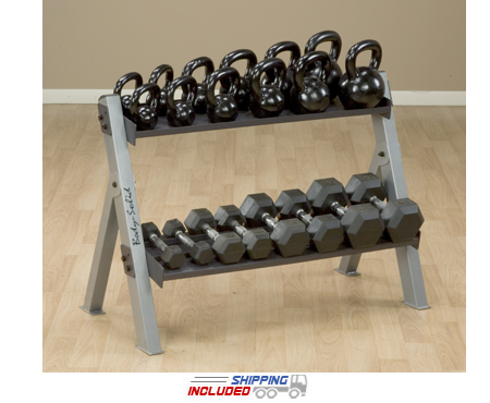 Body-Solid GDKR100 Dual Dumbbell & Kettlebell Rack